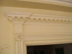 Antique Wood Door Casing and Overdoor Panel Beaded Pearl or Bead | eBay