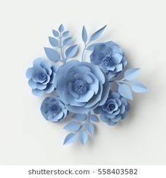Diy Crafts - Find Render Digital Illustration Floral Background stock images in HD and millions of other royalty-free stock photos, illustrations a Paper Flower Art, Large Paper Flowers, Crepe Paper Flowers, Paper Flower Backdrop, Paper Flower Tutorial, Giant Paper Flowers, Flower Crafts, Diy Flowers, Fabric Flowers