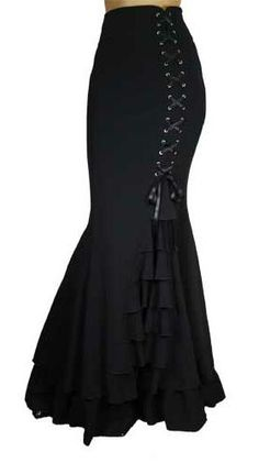 I found 'La Mort Skirt' on Wish, check it out!    Will go perfect with that corset of course!