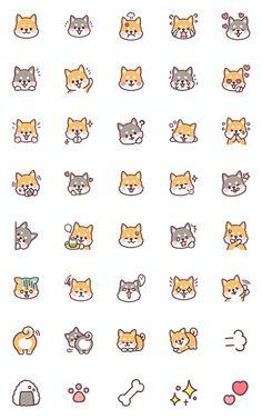 fluffy fat Shiba – LINE Emoji   LINE STORE