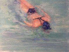 The Swimmer ,pastel. Sold