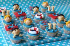 Swim lessons certification cupcakes