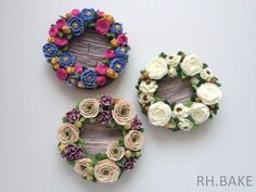 Flower wreath cookie set | Cookie Connection