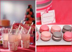 Pink and Grey Macarons <3