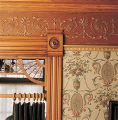 Image Detail for - Wallpaper Victorian Ceiling - note wallpaper above and below railing