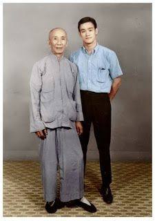 Master Yip Man and his student, a young Bruce Lee