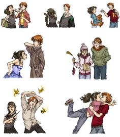 Ron and Hermione through the years =) (this is adorable!)