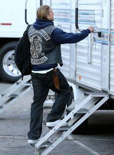 Charlie Hunnam July 28 2014 okay... okay... I'll come in...