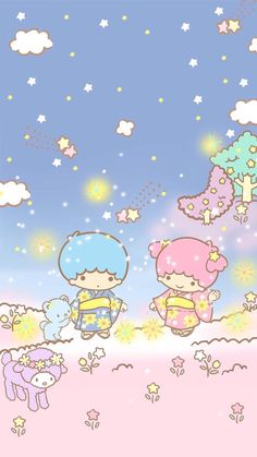 Trendy wallpaper phone cute love little twin stars ideas My Melody Wallpaper, Sanrio Wallpaper, Star Wallpaper, Hello Kitty Wallpaper, Kawaii Wallpaper, Trendy Wallpaper, Little Twin Stars, Sanrio Characters, Cute Characters