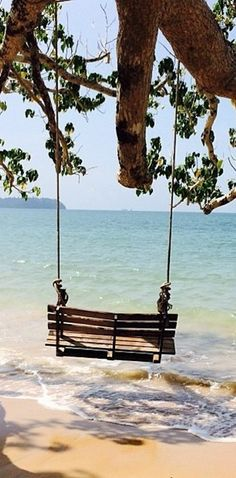Pic of the Day...Swing ------------------- #beach #swings #water #ocean #waves #tropics #travel #beaches