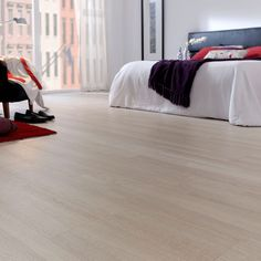 Fresh, Elegant And Stylish — Alert Interior White Oak Laminate Flooring, Modern Flooring, Living Room Wood Floor, Sofa Colors, Building A New Home, Room Interior Design, Bedroom Flooring, Floor Design, House Design