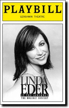 Playbill Cover for Linda Eder at the Gershwin at George Gershwin Theatre - Opening Night, Dec 2001
