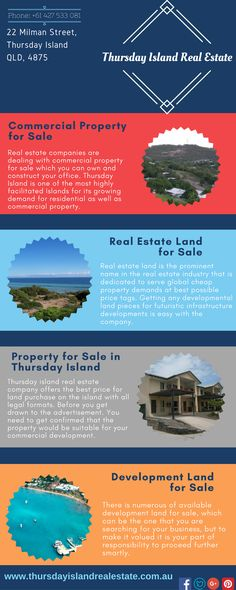 Commercial Property for Sale -  Thursday Island Real Estate is located approx 39 kilometres north of Cape York Peninsula in the Torres Strait, Queensland, Australia. It covers an area of about 3.5 square km with population of 2610 and the highest point is Milman Hill with 341 feet above sea level. We are offering to build on lots from only $290,000.