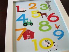 Children wall art nursery decor Down on the by invitemedesigns, $17.00