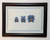 Pokemon cross stitch! Buy the cross stitch or the pattern on this site! Plus more!