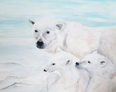 Eisbären -Acryl auf Leinwand