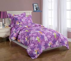 New Girls Kids Bedding Twin Comforter Set Fairy Bed Cover Multi Color Microfibe Girls Comforter Sets, Purple Comforter, Teen Bedding, Bedding Sets, Bedroom Themes, Bedroom Decor, Bedroom Ideas, Luxury Duvet Covers, Love Home