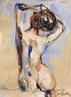 8 x 6 acrylic on paper Carrie Penley Figure Painting, Painting & Drawing, Body Painting, Life Drawing, Art Drawings Sketches, Portrait Art, Erotic Art, Figurative Art, Female Art
