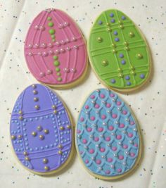 Faberge inspired Easter cookies Repinned By:#TheCookieCutterCompany