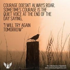 "Courage is quietly saying ""I will try again tomorrow."" Just see (and hear, and feel) #ConsciousHappiness #Meditation #Meditate #Beherenow #Buddha #Spirituality #spiritual #spiritually #spiritualism #spiritualbeing #spirituallife #spiritualpath #spiritualwarrior #spiritualbeings #spiritualthoughts #Mindfulness #mindfulliving #mindfull #namastê #Namaste #Zen #zenlife #Balancedlife #balancedlifestyle #Happiness #happinessquotes #happinessishere #Lessismore #Buddhistbootcamp #Awakethesoul"