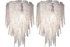 Salviati Murano Glass Chandeliers, Pair on OneKingsLane.com