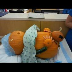Pumpkin in labor