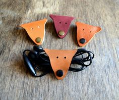 Cord holder fox cord organizer fox earbud holder by jewelryleather