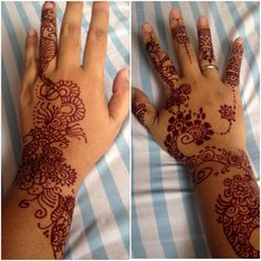 Henna tattoo for fun! Abstract design