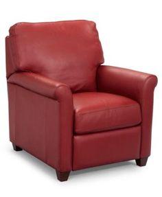 Pavia Leather Club Recliner Chair  | macys.com