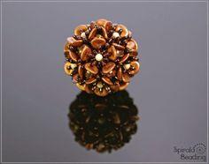 Spirala beading: Wild Rose Flower Beaded Bead