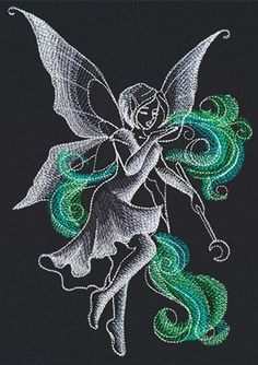 Midnight Magick - Fairy | Urban Threads: Unique and Awesome Embroidery Designs
