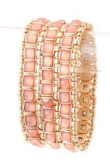 Bejeweled Peach Bracelet