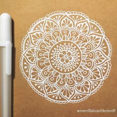 Made this mandala using only pen and paper ✍️ Still getting used to this gelly roll pen - Silvia H. Mandala Art, Mandala Design, Mandala Doodle, Mandala Drawing, Mandala Painting, Mandala Pattern, Dot Painting, Mandala Tattoo, Doodle Art