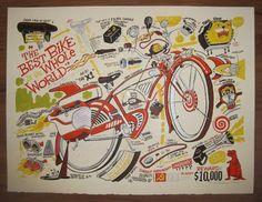 pee wee bike poster