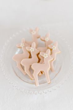 the sweetest bambi cookies for a 1st birthday
