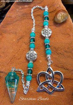 Celtic Pendulum  Crystal Pendulum Jade Pendulum by StarshineBeads
