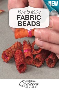 How to Make Fabric Beads Using Lutradur Fabric Beads, Paper Beads, Fabric Art, Fabric Scraps, Fabric Dolls, Fiber Art Jewelry, Textile Jewelry, Fabric Jewelry, Textiles