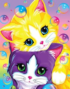 Lisa Frank --- Oh yes, I had quite a Lisa Frank sticker collection... I had an entire roll of these kitten stickers...
