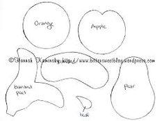 molde de frutas e legumes em eva - Pesquisa do Google