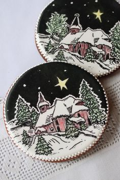 Christmas Woodcut Cookie By Julia M. Usher on Cake Central