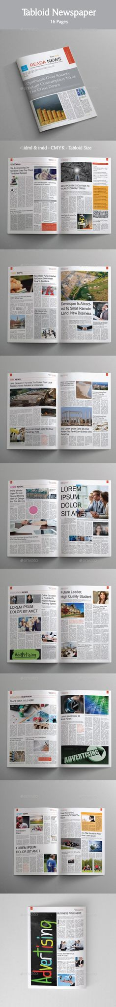 20 Page Newspaper Indesign Template Design Download