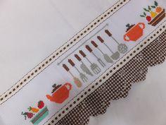 Cross Stitch Kitchen, Cross Stitch Bird, Cross Stitching, Cross Stitch Embroidery, Cross Stitch Patterns, Applique Designs, Embroidery Designs, Hand Embroidery Tutorial, Craft Work