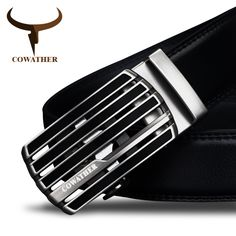 COWATHER New design cow genuine leather strap male belt automatic buckle belts for men fashion style waistband free shipping