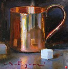 Copper & Sugar by Elena Katsyura Oil ~ 6 in x 6 in