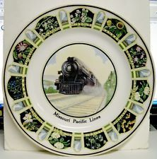 1930's Missouri Pacific Lines Service Plate - Flowers