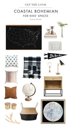 Shop USA CHALKBOARD MAP, MINI DECORATIVE TROPHIES, FAUX SELLOUM LEAVES ARRANGEMENT, THIN STRIPE LINEN TRAY, FELT PENNANTS, PETER, LA LAINE THROW IN NAVY, TALLI, COGNAC LEATHER, LARGE CANVAS GLOBE, OWEN SIDE TABLE, CLEMENTE TABLE LAMP, ARROW MAGNIFYING GLASS, GOLD & MANGO WOOD CANISTER (SET OF 2), CONTRAST BASKET, MOON MAP, WOODEN DEER ANTLER and more