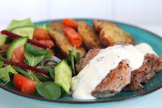 Ugnsbakad potatis, kött & bea