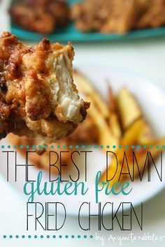 Even Coeliacs can eat this perfect crunchy but juicy fried chicken. #glutenfree #paleo from Anyonita Nibbles