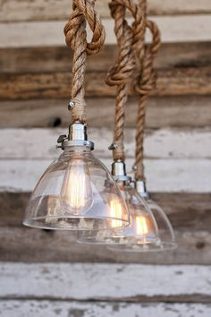 Hanging lighting Fixtures - The Snow Pendant Light Industrial Rope Light Fixture Modern Swag Ceiling Lamp Glass Shade Accent Hanging Light Rustic Lighting. Rustic Light Fixtures, Rustic Lighting, Kitchen Lighting, Home Lighting, Outdoor Lighting, Lighting Ideas, Bedroom Lighting, Farmhouse Lighting, Lighting Design