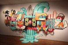 Artistas fazem o que querem nas paredes de um museu